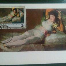 Briefmarken - Goya maja vestida tarjeta sello Burundi Matasellos - 72401630
