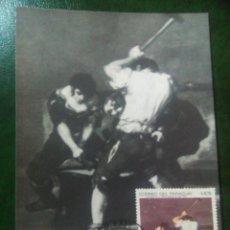 Sellos: GOYA PARAGUAY 1969 TARJETA MÁXIMA. Lote 72914098