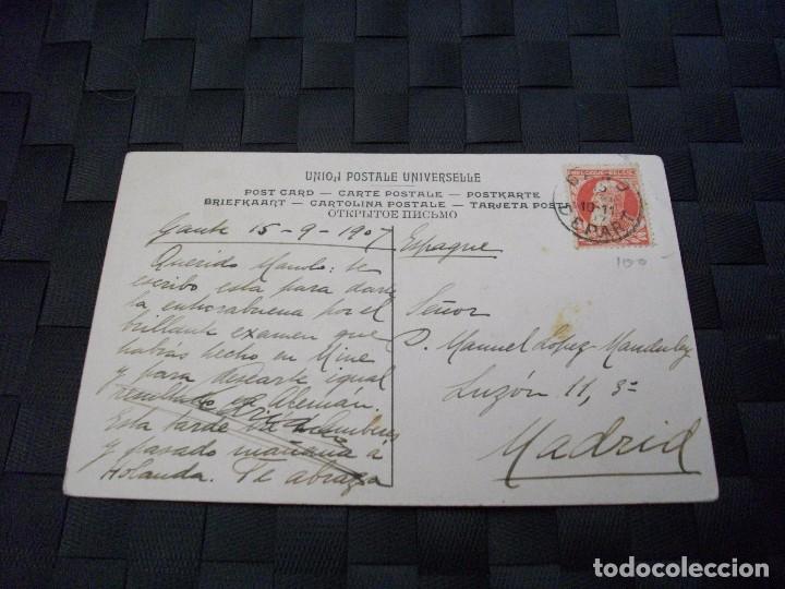 PRECIOSA TARJETA POSTAL CON SELLO DE 1907 LA DE LA FOTO VER TODOS MIS LOTES DE POSTALES (Sellos - España - Tarjetas)