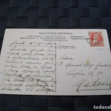 Sellos: PRECIOSA TARJETA POSTAL CON SELLO DE 1907 LA DE LA FOTO VER TODOS MIS LOTES DE POSTALES. Lote 76668483