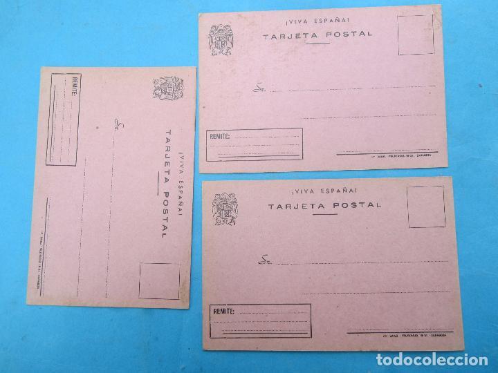 TARJETA POSTAL VIVA FRANCO , 3 IGUALES , (Sellos - Extranjero - Tarjetas)