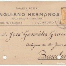 Sellos: T.P.: SELLO 271. LOGROÑO A BARCELONA. 1921.. Lote 80702283