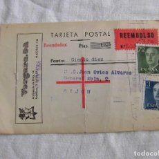 Sellos: TARJETA POSTAL CIRCULADA REEMBOLSO.-VERGARA S.A.MADRID.1964. Lote 79126069