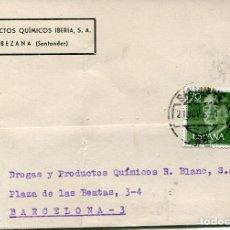 Sellos: TARJETA POSTAL-BEZANA-SANTANDER-1961. Lote 80276309