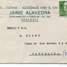 Sellos: TARJETA POSTAL--SABADELL 1961. Lote 80276489