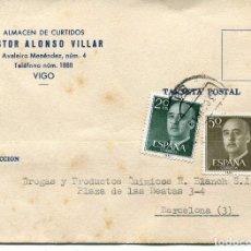 Sellos: TARJETA POSTAL--VIGO- 1961. Lote 80276793