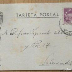 Sellos: TARJETA POSTAL - CIRCULADA MADRID / VALENCIA. Lote 81279884
