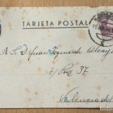 Sellos: TARJETA POSTAL - CIRCULADA MADRID / VALENCIA. Lote 81280048