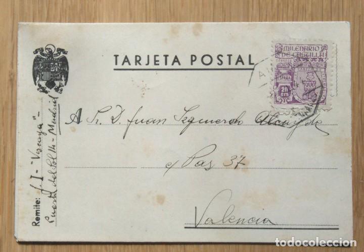 TARJETA POSTAL - CIRCULADA MADRID / VALENCIA (Sellos - España - Tarjetas)
