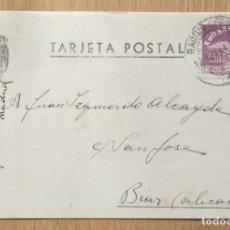 Sellos: TARJETA POSTAL CIRCULADA MADRID - BIAR. Lote 81281044