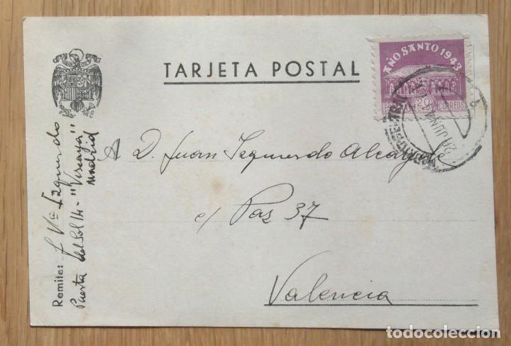 TARJETA POSTAL CIRCULADA MADRID - VALENCIA (Sellos - España - Tarjetas)