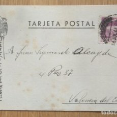 Sellos: TARJETA POSTAL - CIRCULADA MADRID - VALENCIA. Lote 81281576
