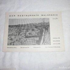 Sellos: TAJETA POSTAL BAR RESTAURANTE BALNEARIO JUAN PERIS SALINAS AVILES ASTURIAS . Lote 85289240
