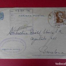 Sellos: TARJETA POSTAL COMERCIAL BUENAVENTURA SERRANO RUEDA - ENCISO ( LOGROÑO) - 1955.. R-5731. Lote 85398800