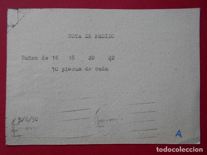 Sellos: TARJETA POSTAL COMERCIAL ANTONIO PAMPLONA BLASCO - TERUEL - CIRCULADA 1950 .. R-5733 - Foto 2 - 141630318