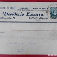 Sellos: TARJETA POSTAL COMERCIAL, DESIDERIO EZCURRA -TAFALLA (NAVARRA) -1934... R-5739. Lote 85402808