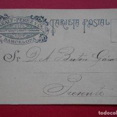 Sellos: TARJETA POSTAL COMERCIAL , HILATURAS CARALT PEREZ Y CIA , BARCELONA , AÑO 1934 .. R-5788. Lote 85728424