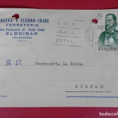 Sellos: TARJETA POSTAL COMERCIAL FERRETERIA AROCENA Y ELCORO -IRIBE, AÑO 1963 ELGOIBAR (GUIPUZCOA)... R-5866. Lote 86191656
