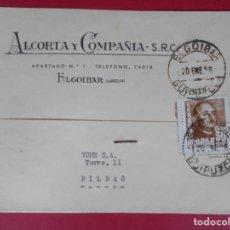 Sellos: TARJETA POSTAL COMERCIAL ALCORTA Y COMPAÑIA, AÑO 1956 ELGOIBAR (GUIPUZCOA)... R-5867. Lote 86191864
