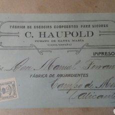 Sellos: CORREOS, C.HAUPOLD.PUERTO DE SANTA MARÍA.. Lote 88905935