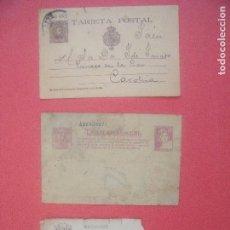 Sellos: TARJETA POSTAL.-ALFONSO XIII.-TIPO CADETE.-MATRONA.-CERVANTES.. Lote 89683764