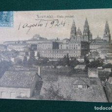 Sellos: TARJETA POSTAL.SANTIAGO A MADRID.1-8-1924.. Lote 90046360