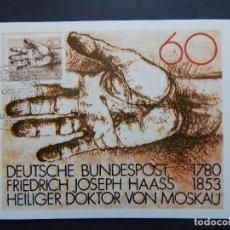 Sellos: ALEMANIA 14.8.1980 - II CENTENARIO DEL NACIMIENTO DEL DR.FR.JOSEPH HAASS, FILÁNTROPO Y MÉDICO . Lote 90548440