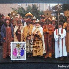 Sellos: ALEMANIA 1.12.1983 - NAVIDAD. MISIÓN PAPAL ALEMANA. REYES MAGOS, YORUBA, NIGERIA. Lote 90559310