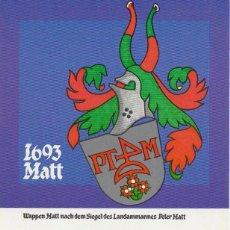 Sellos: LIECHTENSTEIN, ESCUDOS DE LANDAMMANS: DE PETER MATT, TARJETA MAXIMA DE 9-3-1981. Lote 96241087