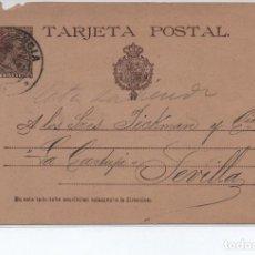 Sellos: TARJETA POSTAL - LA PORCELANA BLAS HURTADO VALENCIA CIRCULADA A SEVILLA EN 1891 -- C-48. Lote 98002327