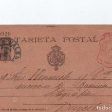 Sellos: TARJETA POSTAL - VIUDA E HIJOS DE R. MARIANA Y MONPIE VALENCIA CIRCULADA A BARCELONA 1902 -- C-48. Lote 98003251