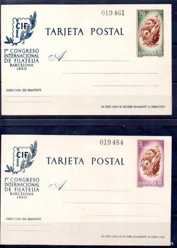 1960 CONGRESO INTERNACIONAL DE FILATELIA BARCELONA EDIFIL 88/89 VC 102,00€ (Sellos - España - Tarjetas)