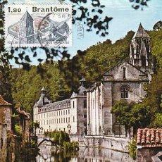 Sellos: FRANCIA IVERT 2253, BRANTOME, TARJETA MÁXIMA DE 3-9-1984. Lote 99536251