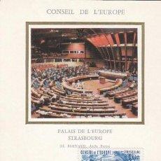 Sellos: FRANCIA, CONSEJO DE EUROPA IVERT 84, SU SEDE, MAXIMA DE 10-11-1984. Lote 99536547
