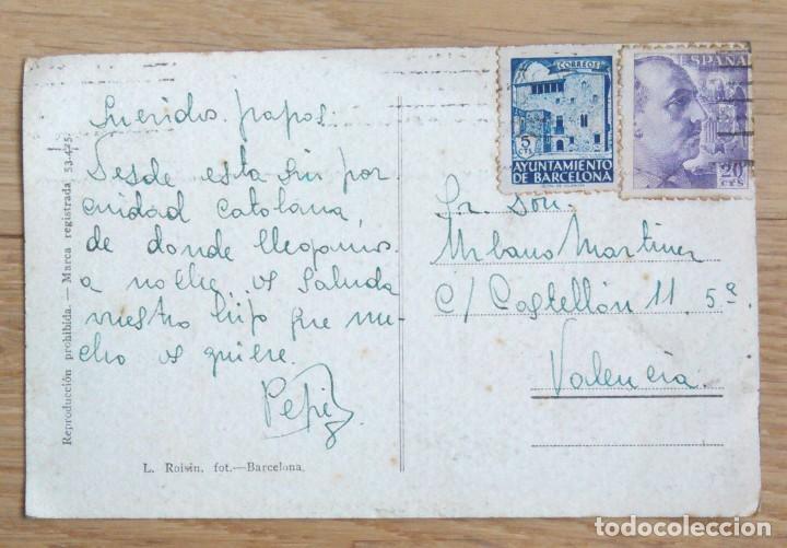 POSTAL DE BARCELONA CON SELLO DEL AYUNTAMIENTO DE BARCELONA (Sellos - España - Tarjetas)