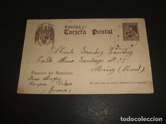 TARJETA POSTAL 1942 (Sellos - España - Tarjetas)
