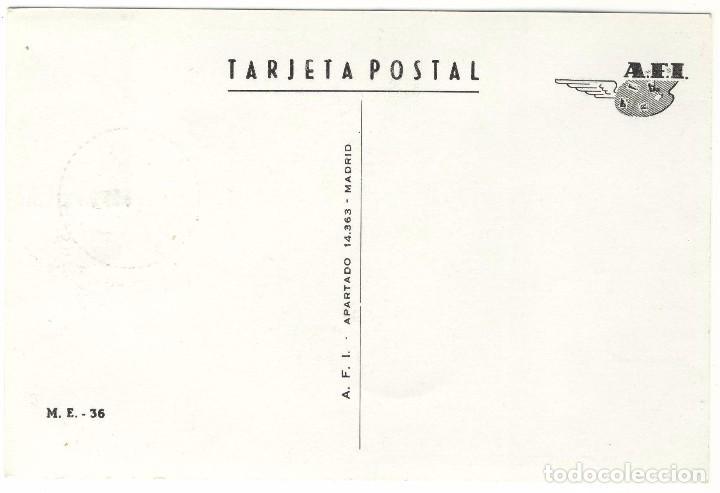 Sellos: Tarjeta A.F.I. II Juegos atleticos iberoamericanos Madrid 7 octubre de 1962 sello primer dia emisión - Foto 2 - 103437915