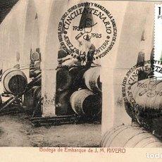 Sellos: 1985 MATASELLOS SOBRE TARJETA JEREZ SHERRY VINO BODEGA POSTAL ANTIGUA. Lote 103681371