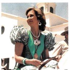 Sellos: 1985 MATASELLOS SOBRE TARJETA ROCIO REINA SOFIA CON TRAJE DE FLAMENCA. Lote 103684499