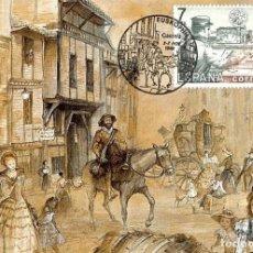 Selos: 1992 MATASELLOS SOBRE TARJETA VITORIA GASTEIZ SELLO TALADRADO. Lote 103693463