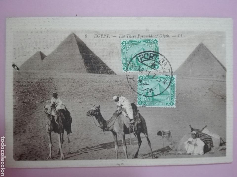 POSTAL EGIPTO 1911 PIRÁMIDES TARJETA MÁXIMA (Sellos - Extranjero - Tarjetas Máximas)