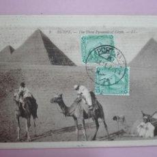 Sellos: POSTAL EGIPTO 1911 PIRÁMIDES TARJETA MÁXIMA. Lote 105091030