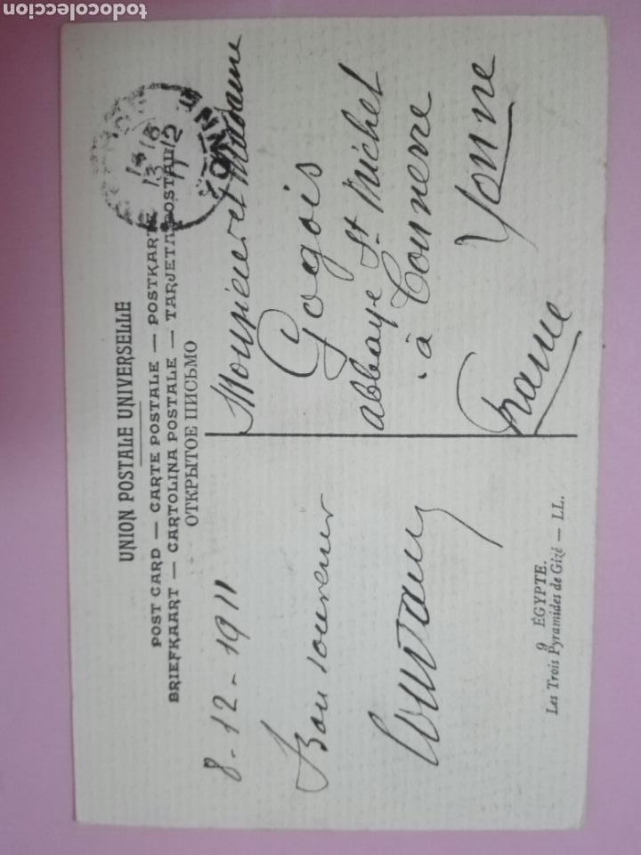 Sellos: Postal Egipto 1911 pirámides tarjeta máxima - Foto 2 - 105091030