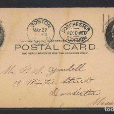 Sellos: FACIAL 0,01 $. CIRCULADA DE PRINCETOWN (N.J.) A DORCHESTER (MASS.) EN 1903.. Lote 107998963