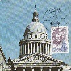 Sellos: FRANCIA IVERT 2172, EL PANTHEON, TARJETA MÁXIMA DE 2-11-1981. Lote 109372239
