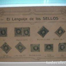 Timbres: EL LENGUAJE DE LOS SELLOS TARJETA POSTAL - PORTAL DEL COL·LECCIONISTA *****. Lote 110466135