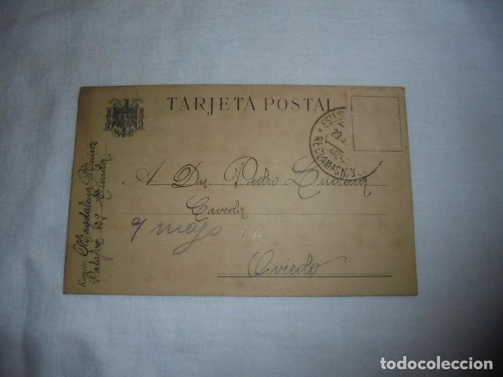 TARJETA POSTAL CIRCULADA FALTA SELLO EL MATASELLO PONE RECLAMACIONES 1940 (Sellos - España - Tarjetas)