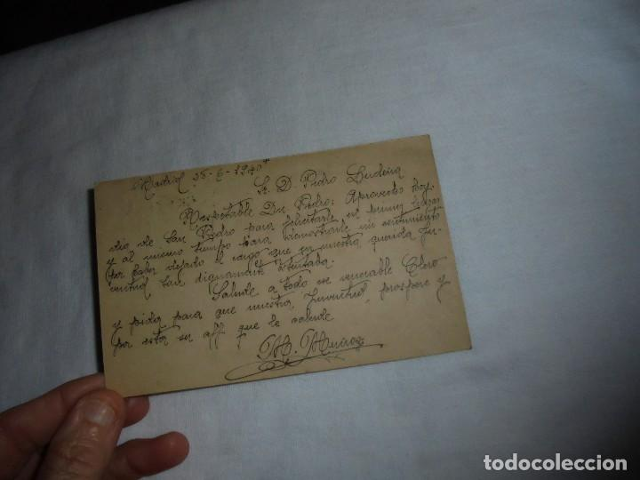 Sellos: TARJETA POSTAL CIRCULADA FALTA SELLO EL MATASELLO PONE RECLAMACIONES 1940 - Foto 2 - 111526959
