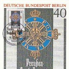 Sellos: ALEMANIA BERLIN IVERT 609, MEDALLA DE LA ORDEN DEL MERITO (CIENCIAS Y ARTES), MÁXIMA 16-7-1981. Lote 112553615
