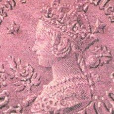Sellos: AUSTRALIA, LA REINA VICTORIA DE INGLATERRA, REPRODUCCION DE UN SELLO, TARJETA MAXIMA DE 1-5-1990. Lote 113393651